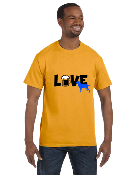 Unisex Gildan T-shirt- Love Beer and Dogs 2