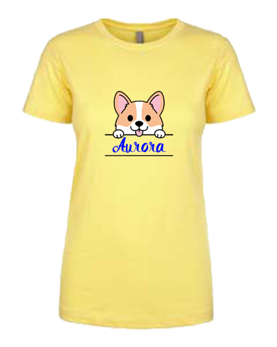 Ladies T-Shirt- Corgi Name