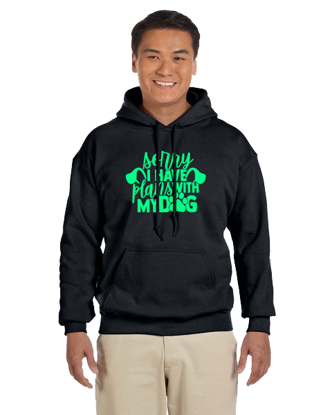 Unisex Hoodie- Plans With Dog