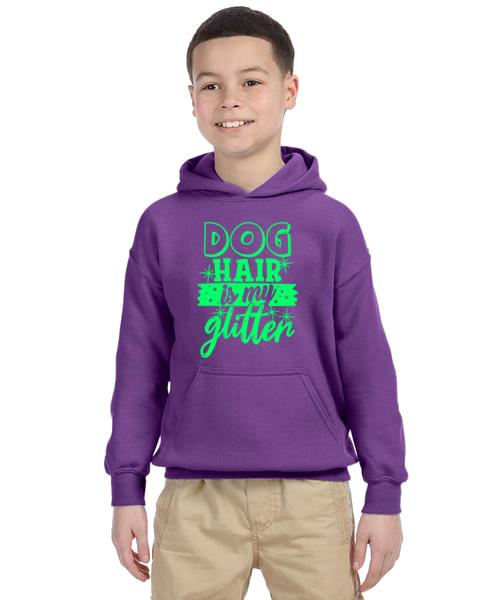 Kids Hoodie- Dog Hair Glitter