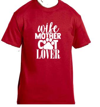 Unisex Gildan T-shirt- Wife Mother Cat Lover