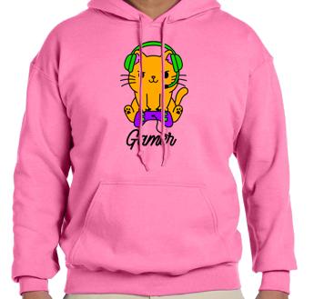 Unisex Hoodie- Gamer Cat