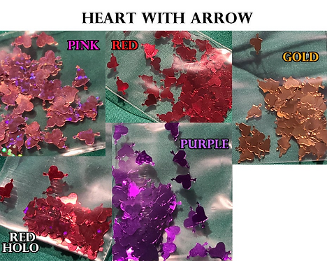 Hearts & Arrows Glitter