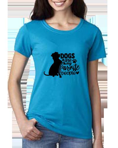Ladies T-Shirt- Dogs Favorite People