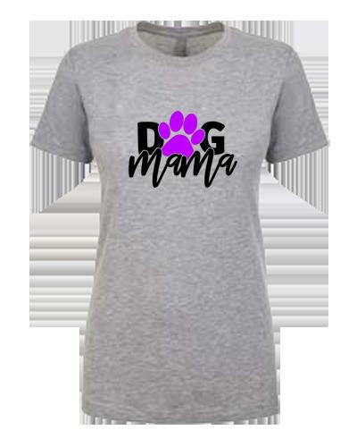 Ladies T-Shirt- Dog Mama with Paw