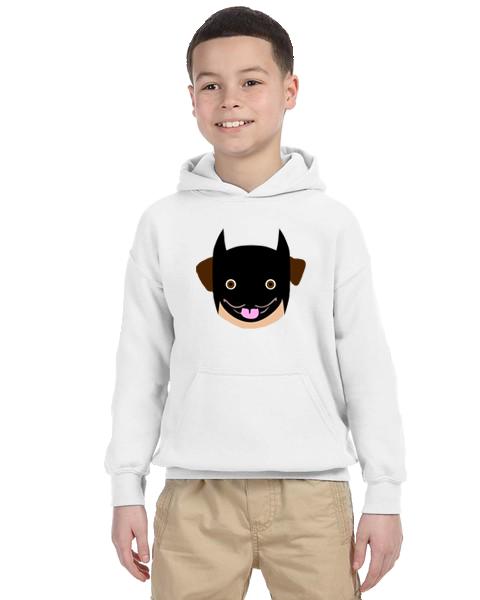 Kids Hoodie- Batman Pug
