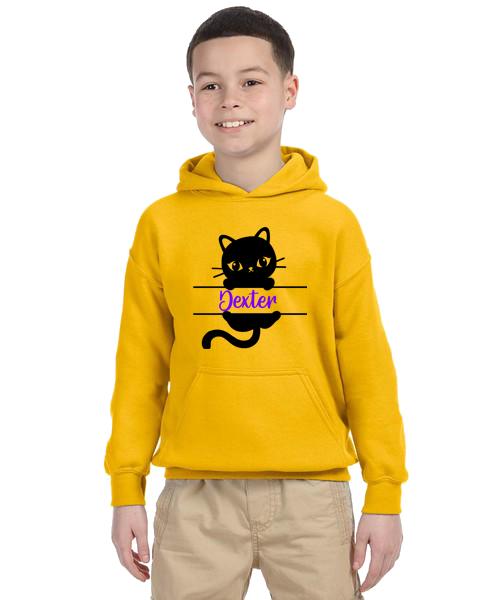Kids Hoodie- Cat Name