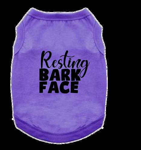 Pet Tank- Resting Bark Face
