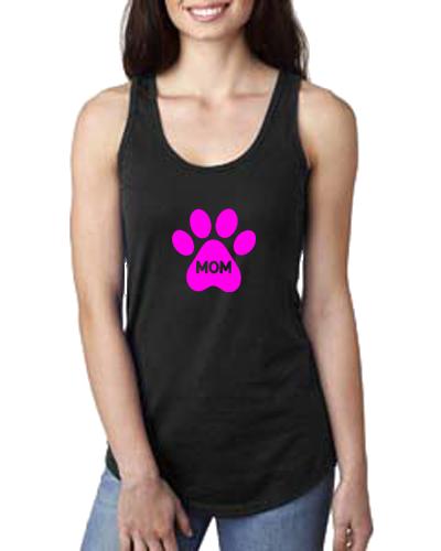 Ladies Tank- Dog Paw Mom