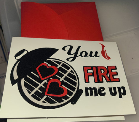 Fire Me Up Valentine's Card