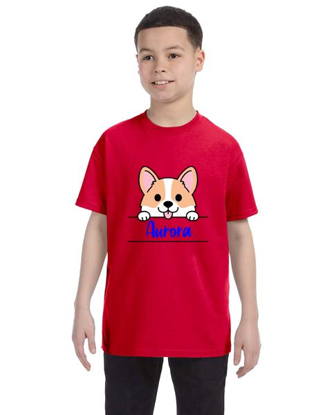 Kids Unisex Tee- Corgi Name