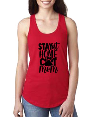 Ladies Tank- Stay Home Cat Mom