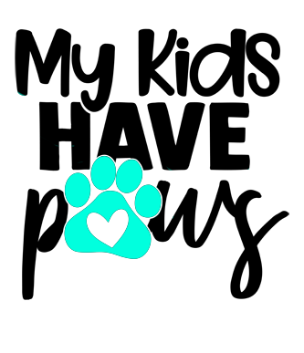 Decal- My Kids Have Paws