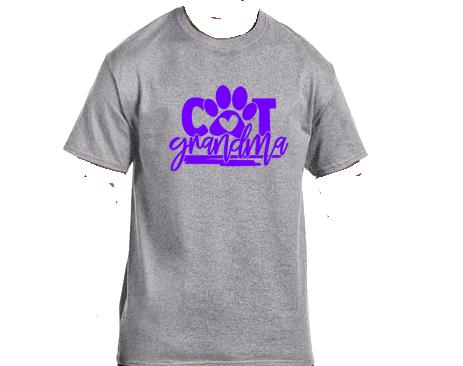 Unisex Gildan T-shirt- Cat Grandma