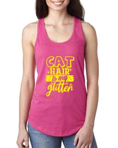 Ladies Tank- Cat Hair Glitter