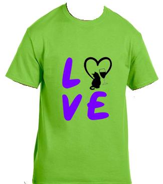 Unisex Gildan T-shirt- Love Cats and Wine