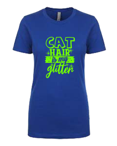 Ladies T-Shirt- Cat Hair Glitter