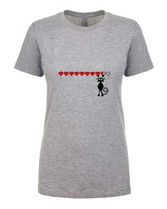 Ladies T-Shirt- Cat 9 Lives