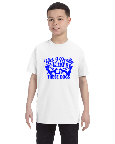 Kids Unisex Tee- Need All These Dogs