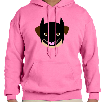 Unisex Hoodie- Batman Pug