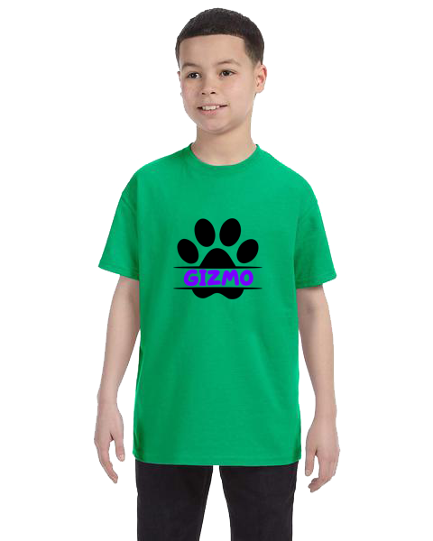 Kids Unisex Tee- Dog Paw Name