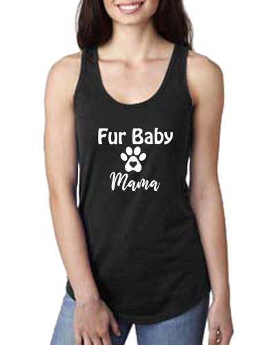 Ladies Tank- Dog Fur Baby Mama2