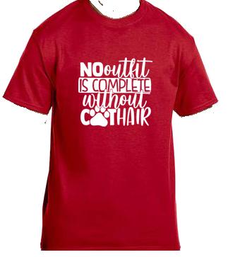 Unisex Gildan T-shirt-Outfit Cat Hair