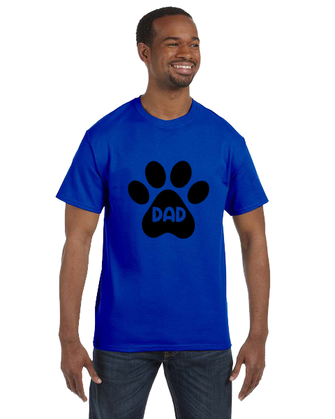 Unisex Gildan T-shirt- Dog Dad Paw