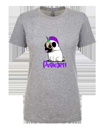 Ladies T-Shirt- Pugicorn
