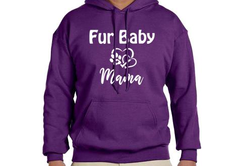 Unisex Hoodie- Dog Fur Baby Mama Hearts