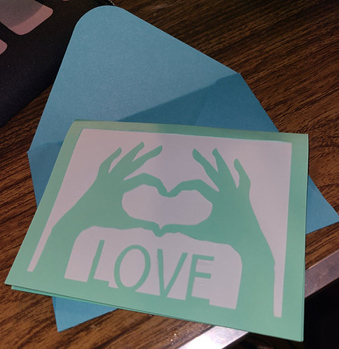 Cut Out Love Card