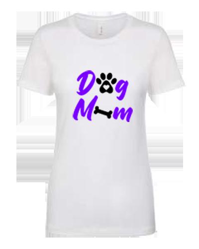 Ladies T-Shirt- Dog Mom bone and paw