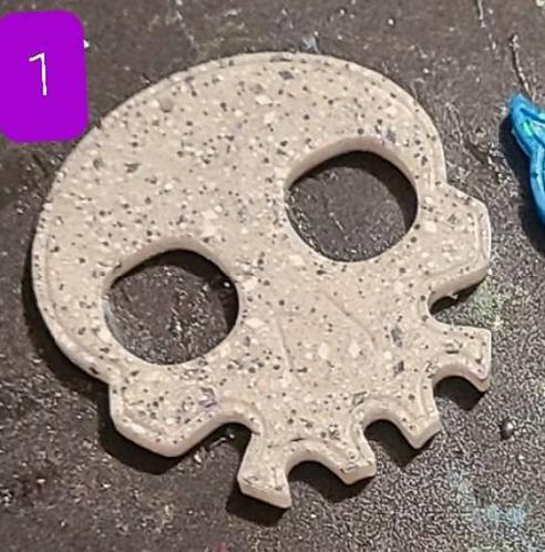 Skull Defense Key Chain