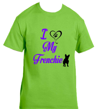Unisex Gildan T-shirt- Love My Frenchie