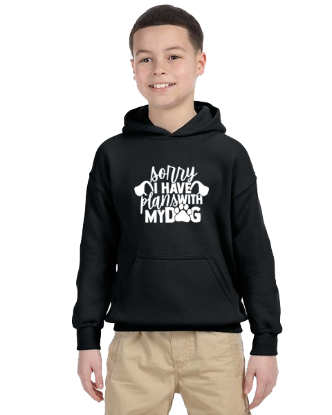 Kids Hoodie- Plans With Dog