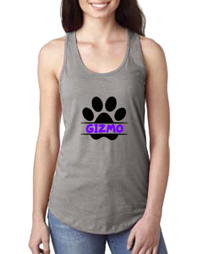 Ladies Tank- Dog Paw Name