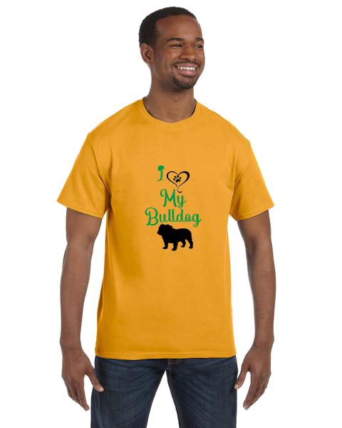 Unisex Gildan T-shirt- Heart My Bulldog