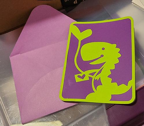 Dino Heart Card