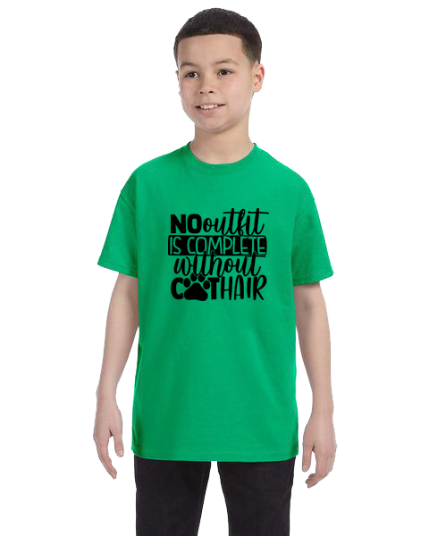 Kids Unisex Tee- Outfit Cat Hair