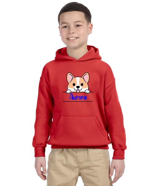 Kids Hoodie- Corgi Name