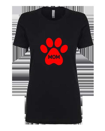 Ladies T-Shirt- Dog Paw Mom