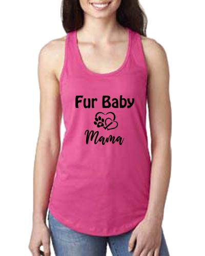 Ladies Tank- Dog Fur Baby Mama
