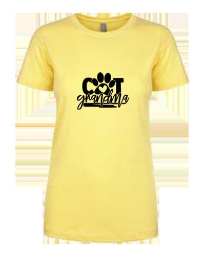 Ladies T-Shirt- Cat Grandma