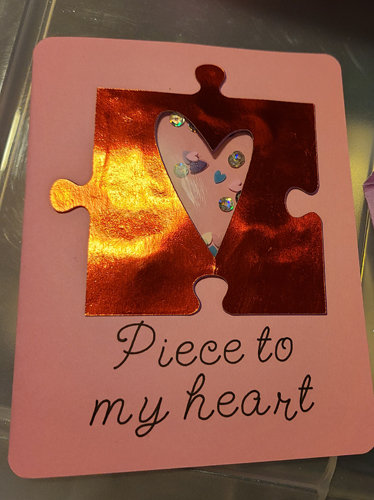 Piece to my Heart Shaker Card
