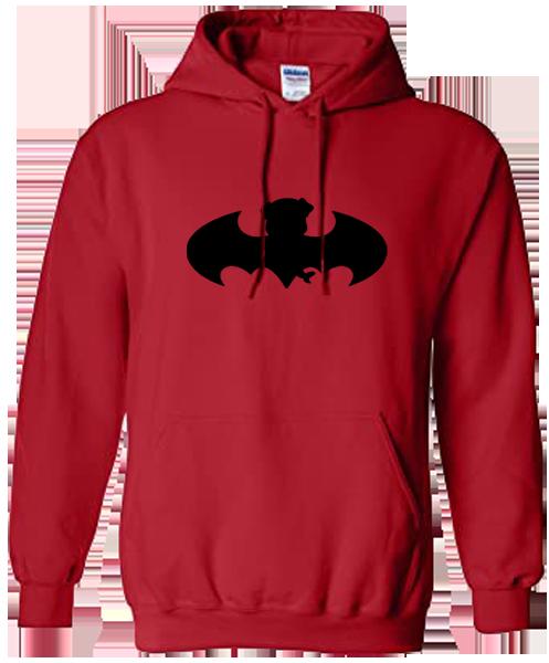 Unisex Hoodie- Bat Pug