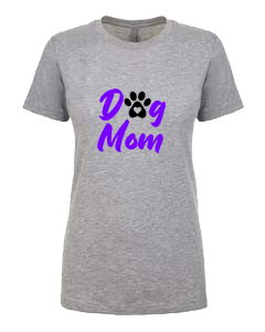 Ladies T-Shirt- Dog with Paw Mom