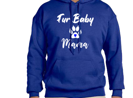 Unisex Hoodie- Fur Baby Mama CatPaw