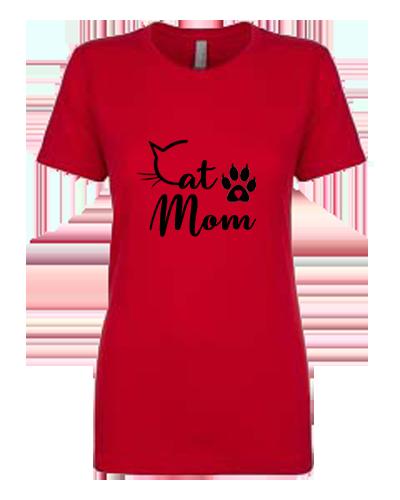 Ladies T-Shirt- Cat Mom Cat C