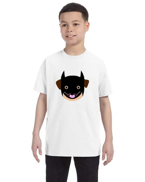 Kids Unisex Tee- Batman Pug