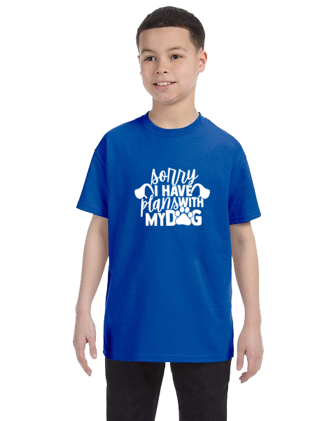 Kids Unisex Tee- Plans With Dog